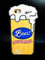 Силиконовый чехол Beer iPhone 6S/6, Пиво