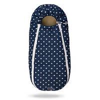 Зимний конверт-кокон Беби ХС на овчине для малышей Синий в белые звезды