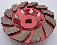 Фреза алмазная торцевая  для шлифовки гранита Turbo 100x19x5x12SxM14 №0 (40/50) грубое