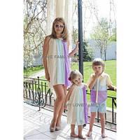 Изумительный набор мама и дочка платье шифон