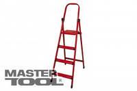 """MASTERTOOL Лестница-стремянка металлическая """"МАСТЕР"""" Лестница-стремянка металлическая """"МАСТЕР""""  3 ступени, h=590 мм, max 150 кг, Арт.: 79-1053"""