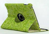 Кожаный чехол-книжка TTX (Flower) (360 градусов) для Apple iPad Air 2            Зеленый