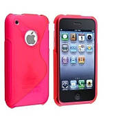 TPU Duotone для Apple Iphone 3G/S            Розовый (матово/прозрачный)