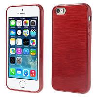 TPU Pearl Lines чехол для Apple iPhone 5/5S/SE            Красный