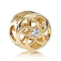 Золотой шарм Pandora, 750598CZ