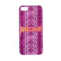 "TPU чехол Just Cavalli Print ""Shiny Python"" для Apple iPhone 5/5S/SE            Сиреневый"