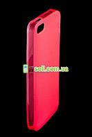 TPU чехол для Apple iPhone 5/5S/SE            Розовый (Soft touch)
