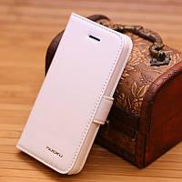 Кожаный чехол Nuoku Vogue (книжка) для Apple iPhone 5/5S/5C/SE (+ пленка)            Белый