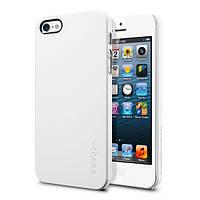 Пластиковая накладка SGP Ultra Thin Air Series для Apple iPhone 5/5S/SE (+ пленка)            Белый / Smooth White / SGP09505