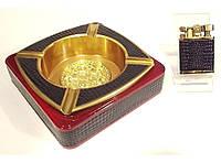 Набор пепельница и зажигалка Smoking Set PN1-53 14 37