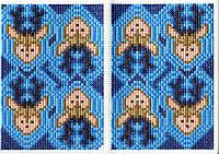 Обложка на паспорт вышивка крестом набор Олени 5003