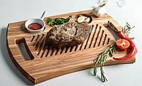 Доска для подачи стейков из ясеня, фото 1