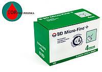 Голки для шприц-ручок BD Micro-Fine+ «МикроФайн» 4 мм 100 шт.