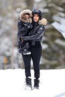 Изумительный набор мама и дочка или сын комбез и куртка Монклер