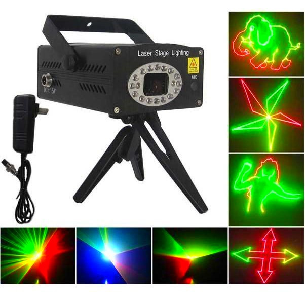"Лазерный проектор ""Mini Laser stage lighting"" S-014 с динамическими анимациями"
