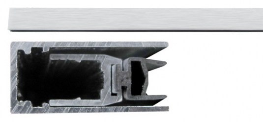 420 Порог алюм с резин вставкой 83-63 см