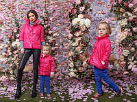 Набор мама и дочка. Короткая куртка на кнопках