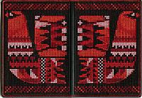 Обложка на паспорт вышивка крестом набор Птица 5008