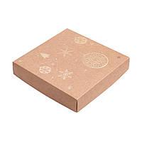 Коробка для пряников 150х150х30 мм., крафт-золото