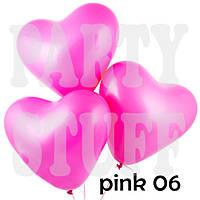Надувные шарики Сердце Gemar Пастель Розовый 6' (16 см), 100 шт