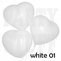 Воздушные шарики Сердце Пастель Белый 10', 100 шт
