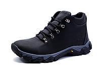 Зимние ботинки Timberland, мужские, на меху, натуральная кожа, черные, р. 40