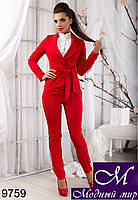 Деловой женский красный костюм (р. S, M, L, XL) арт.9759