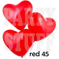 Воздушные шарики Сердце Пастель Красное Gemar, 10' (26 см), 100 шт