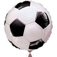 Шар фольга Футбольный мяч,надутый гелием