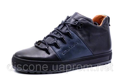 Зимние ботинки Gekon, на меху, мужские, натуральная кожа, черные