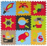 Детский коврик-пазл Baby Great Приключения пиратов 92х92 см