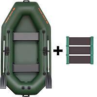 K-240 Лодка надувная гребная двухместная Kolibri серия Standart ( слань-коврик )