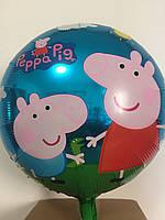 Шар фольга Свинка Пеппа,надутый гелием