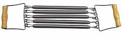Эспандер плечевой 5 пружин. Деревянные ручки, 30 см.