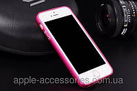 Бампер Pink Metal for iPhone 5/5S