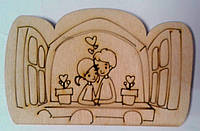 """Деревянная раскраска На магните """"Романтика 16"""" 2-030 Идейка Китай"""