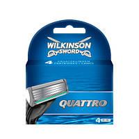Wilkinson Sword Quattro сменные картриджи 4 шт в упаковке