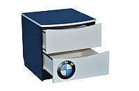 Прикроватная тумбочка с двумя ящиками с фотопечаттю автомобилей