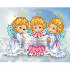 "Рисунок на ткани ""Трио ангелочков"" Т-0297 ВДВ 19 х 24 см"