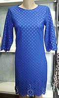 Нарядное женское платье из красивой ткани перфорацией