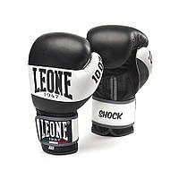 Боксерские перчатки из натуральной кожи SHOCK Leone черный