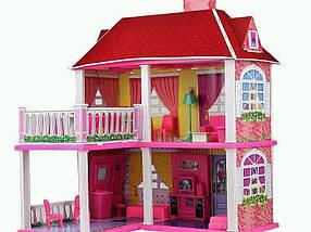 Дом 6980, 2 этажа, терраса, набор мебели, 2 метода сборки, море прекрасного настроения для детей, фото 2