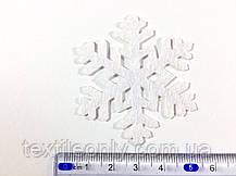 Декор Снежинка цвет белый термо 50х43 мм, фото 3