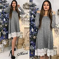 Женское стильное платье из ангоры свободного кроя (3 цвета), фото 1