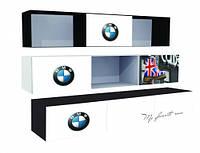 Полка три секции две дверки с фотопечаттю автомобилей