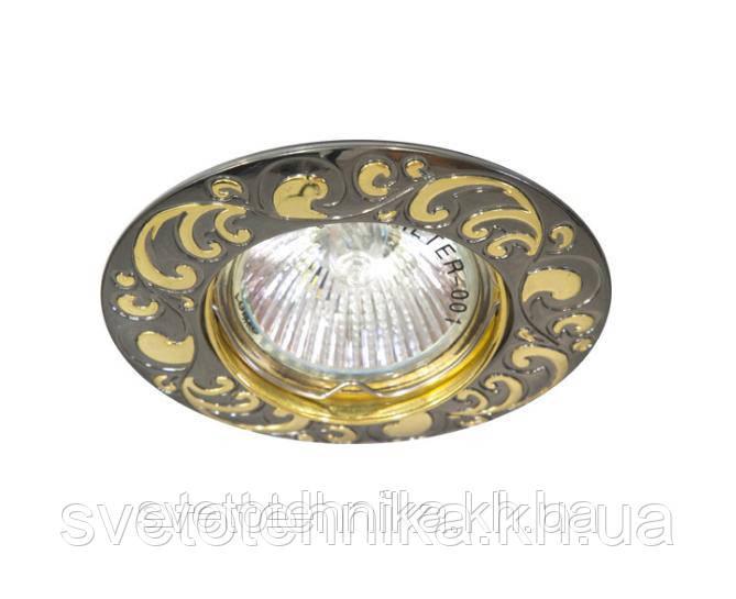 Точковий світильник Feron DL 2005 чорний металік - золото