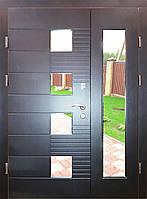 Входная дверь двух створчатая модель П3-501 vinoriy-20 СТЕКЛО