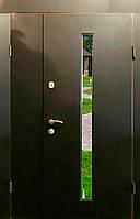 Входная дверь двух створчатая модель П3-ГЛАДКАЯ vinoriт-20 СТЕКЛО