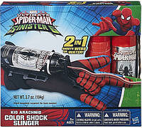 Бластер человека паука для паутины и воды, Spider-Man Blaster Web Shooter Red, Hasbro