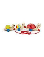 """Развивающие и обучающие игрушки «Viga Toys» (59949) каталка """"Черепашки"""""""